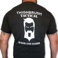 """THIGHBRUSH® TACTICAL - """"Licked and Loaded"""" - Men's T-Shirt - Heather Black and White"""