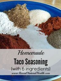As much as we use taco seasoning, I am so glad I learned to make my own. This version is so much healthier than store bought packets and only needs 6 ingredients.