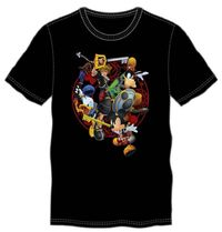 Kingdom Hearts Battle T-Shirt - Battle shows Donald Duck, Goofy, Mickey Mouse, and Sora $26.47