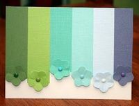 """Paper punch card. OR if you don't have a paper punch just cut it out from paint swatches you snagged while """"getting ideas"""" at the store =)"""