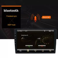 T3 10.1 Inch 1 Din Car Stereo Radio Android 8.1 Quad-core MP5 Player GPS bluetooth DAB+ Wifi 4G