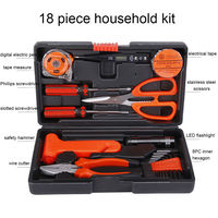 18 in 1 Auto Repair Tool Set Household Hand Tool Kit Screwdriver Scissors Hammer Wire Cutter Flashlight with Box