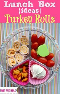 Are you out of sandwich ideas for lunch? These turkey rolls are quick, easy and your kids will love them!