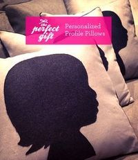 DIY: Easy Profile or Silhouette Pillows