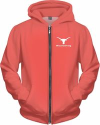 I Support Houston Peach Zip-Up Hoodie $89.00