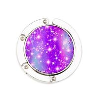 purple sparkle purse hanger