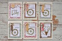 Mish Mash: Tray Tuesday....holiday cards with embossing + watercolor