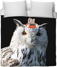 ROB Cats and Owls Duvet Cover $120.00
