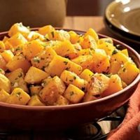"Winter squash becomes tender and sweeter when roasted�€""a delicious side for a holiday dinner."