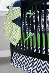 Custom baby bedding Green and Navy Blue by GiggleSixBaby on Etsy