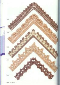Pretty crochet edgings, with charts