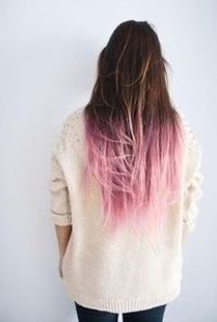 pink hair, don't care <3