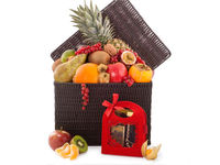 Bountifull Fruit and Godiva basket