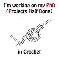 LOL! I always have WIP's all over the house! #crochet