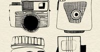 cameras - beautiful lineart from my sweet friend