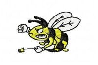 FUNNY WASP-embroidery design