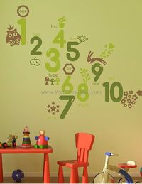 Baby Learn Numbers Game Kid Wal Decals