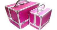 zanex cases Sparkly Hot Pink 2 Piece Beauty Makeup Vanity Case Box Hair Nails Jewellery No description (Barcode EAN = 5060260904246). http://www.comparestoreprices.co.uk/beauty-products/zanex-cases-sparkly-hot-pink-2-piece-beauty-makeup-vanity-cas...