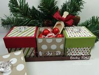 Tray of Boxes Three little boxes nestled in their own tray. Perfect for three small gifts, three kinds of candies or anything you might ne...