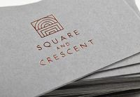 Business card with copper foil detail by Touch for Square and Crescent.