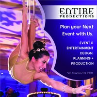 Entire productions provide special events management and event design. We closely work with our clients in event planning for their budget. We are located in San Franciso and all major markets around the world.