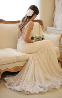 sexy-lace-open-back-wedding-dress - Wedding Ideas, Wedding Trends, and Wedding Galleries