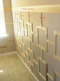 Board with the regular wainscoting! Try this fabulous new wainscoting design!