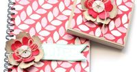 Stampin' Up! UK - Fresh Prints Notebook and Sticky Note holder