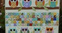 I love owls Owl Baby Quilt