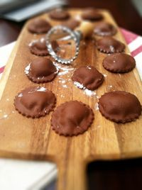 Chocolate Ravioli. I've never had this before but now I plan to have it soon! Delicious I'm for sure!