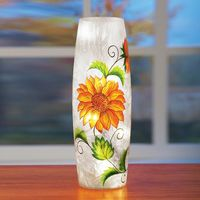 Crackle Glass Sunflower Table Lamp $12.95