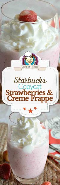 Make this simple copycat recipe for Strawberries & Crème Frappuccino® Blended Crème Copycat at home. You already have what you need for this treat.