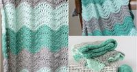 "Feather and Fan Baby Blanket �€"" free crochet pattern"