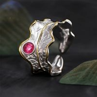 ADJUSTABLE PEONY LEAF RING $33.99