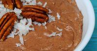 German Chocolate cake dip - great for graham crackers, animal crackers or fruit!