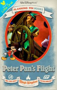 Walt Disney World Planning Pins: Fly over London with Peter Pan aboard a magical pirate ship to Never Land.
