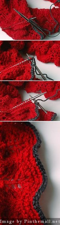 """#Knitting Tutorial - """"Almost I-Cord. This is a simple way to bind off that looks almost like i-cord but is much faster and simpler to do. There's a free photo tutorial for this at http://www.ravelry.com/patterns/library/semi-cord """" from #Kni..."""