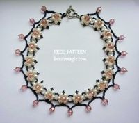 Free pattern for beaded necklace Phenny