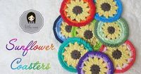 sunflower coaster free crochet pattern LittleMeeCreations ༺�œ�ƬⱤ�ƒ� https://www.pinterest.com/teretegui/�œ�༻