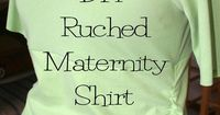 No, I'm not pregnant! Remember that big secret I had to keep awhile back. It's Katie! And I promised I'd make some ruched maternity shirts for her. Here we go: