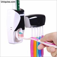1 Set Creative Automatic Plastic Lazy Toothpaste Dispenser 5 Toothbrush Holder Squeezer Bathroom Shelves Bathing Accessories $21.27