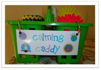 This is a blog with inspiring ideas for elementary teachers. The author posted this great idea of a calming caddy. It is filled with different sensory objects to help students calm down when getting frustrated. She includes things such as stress balls, ca...