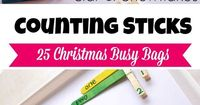 For our 4th Christmas busy bag I went with a counting combination with some number recognition. This one is good for any season by changing up the items used on