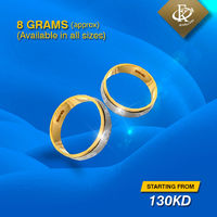 Aim for perfection on the big day. Best engagement rings from FKJewellers. �–� Product type: Gold Ring �–� Weight: 7-8 Grams approx. �–� Price starting from 130KD �–� Free Delivery �œ…100% Guaranteed Authentic &...