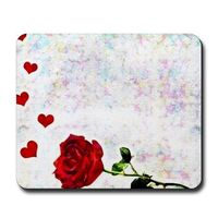 heart and rose mousepad