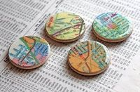 map magnets #modpodge #magnets #maps