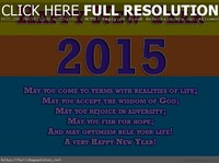 Happy new year color 2015 wishes