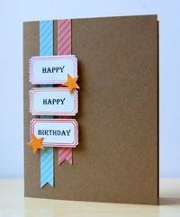 simple card w/kraft. I like this card, I make all of my cards out of kraft!! It makes the colors pop!!! - ticket die