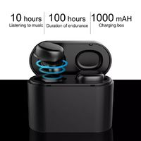 TWS Wireless bluetooth 5.0 Earphone LED Display Smart Touch Deep Noise Cancelling 1000mAh Bilateral Call Stereo Headphone