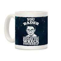 Who do you know who would love this? You Bader Check Yourself Ceramic Coffee Mug Handcrafted in the USA! $14.99
